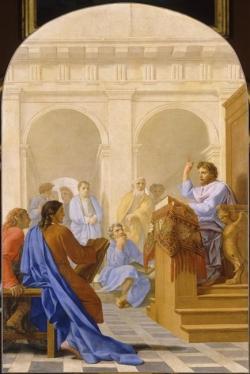 Eustache Le Sueur, Saint Bruno enseigne la théologie dans les écoles de Reims