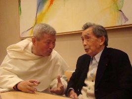 Kim En Joong et François Cheng aux éditions du Cerf en décembre 2009