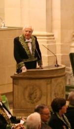 Aymeric Zublena sous la Coupole de l'Institut de France, le 2 décembre 2009
