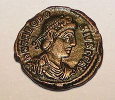 Monnaie à l'effigie de Théodose