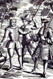 Les Fourberies de Scapin de Molière, gravure de l'édition de 1719