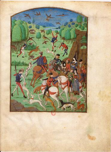 Scène de chasse extraite du Livre des Trois Âges