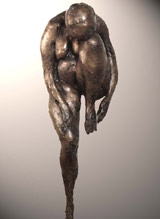 Sculpture de Jean Cardot, Intimité, 1966 Bronze cire perdue 135 X 45 X 45 cm.