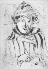 Autoportrait au chapeau orné de Chagall (1928)