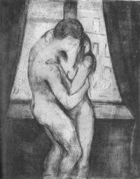 Baiser d'Edvard Munch (1895)