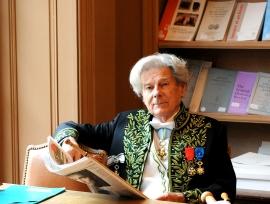 Dominique Fernandez de l'Académie française, 3 décembre 2009, Bibliothèque de l'Institut de France