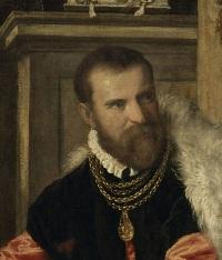 Détail du portrait de Jacopo Strada , 1567 - 1568, Vienne, Kunsthistorisches Museum