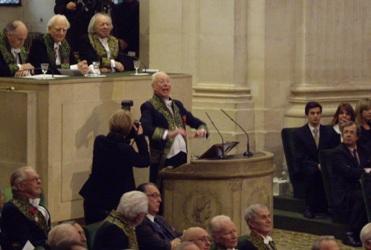 William Christie sous la Coupole de l'Institut le 27 janvier 2010