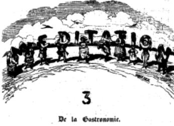 Page extraite de l'édition originale de La physiologie du goût