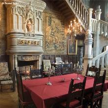 Le salon Renaissance. Il aurait inspiré Jean Cocteau pour son film La belle et la bête