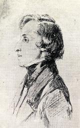 Frédéric Chopin, d'après un croquis de Franz Xaver Winterhalter