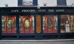 Devanture du café  Le Procope , fondé en 1686