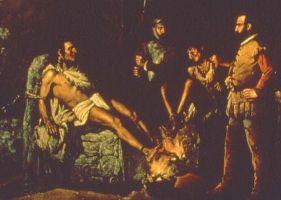 La Torture de Cuauhtémoc de Leandro Izaguirre