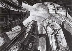 Passage du Caire, 1991, printmaking by Erik Desmazières