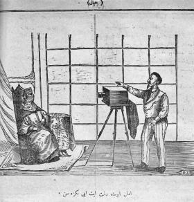 """Pour illustrer le rire ottoman: La dame au photographe:  """"Maître, que cela soit bien ressemblant"""""""