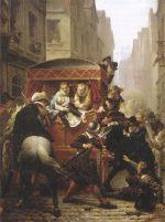 L'assassinat d'Henri IV, rue de la Ferronnerie à Paris