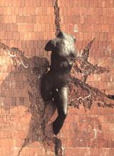 Sculpture de Jean Cardot, Monument à la Liberté 1978 Bronze, cire perdue 300 X 90 X 60 cm.