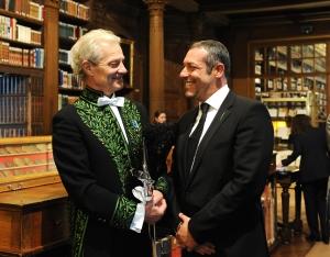 Jacques Rougerie et Ariel Fuchs, décembre 2009, Bibliothèque de l'Institut de France