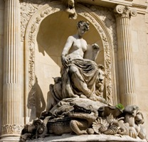 La fontaine Cuvier à Paris, à côté du Muséum national d'Histoire naturelle, dont Georges Cuvier  fut le directeur en 1808.