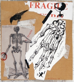 Vladimir Velickovic, Karton, encre et collage sur carton, 32 x 29 cm, 2008