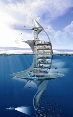Le vaisseau SeaOrbiter de l'architecte Jacques Rougerie