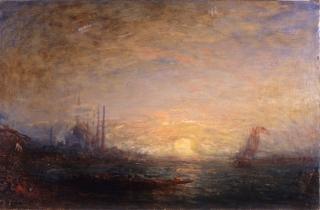 Félix Ziem (1821-1911), Constantinople, huile sur bois, 70x106