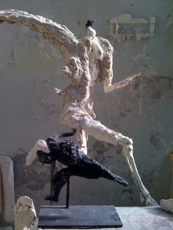 Le coureur et le Petit samouraï, deux sculptures majeures de l'œuvre de Gérard Lanvin de l'Académie des beaux-arts