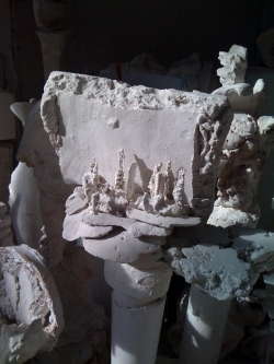 Stèle évoquant Venise, sculpture de Gérard Lanvin