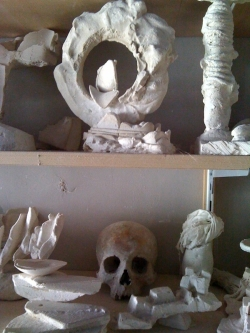 Sculptures dans l'atelier de Gérard Lanvin