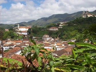 Vue panoramique d'Ouro Preto