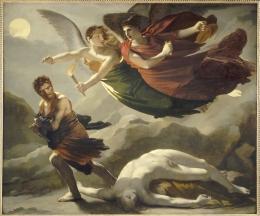 Pierre-Paul Prud'hon  La justice et la vengeance divine poursuivant le crime  , 1815-1818 Huile sur toile, 164x198 cm Saint-Omer, musée de l'hôtel Sandelin
