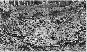 Les cadavres exhumés des charniers (1943)