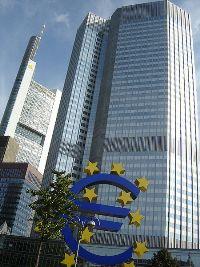Banque centrale européenne, Francfort: l'euro est encore solide sur ses bases.