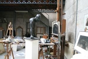 Vue de l'atelier de Pierre-Edouard, 13 mars 2010