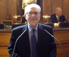 Georges-Henri Soutou en grande Salle des séances (12 avril 2010)