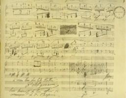 Partition manuscrite de Chopin