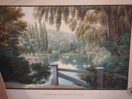 Illustration représentant une vue depuis le château de Malmaison
