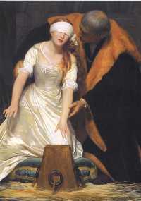L'Exécution de lady Jane Grey en la tour de Londres, l'an 1554.