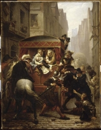 Assassinat d'Henri IV et arrestation de Ravaillac (Charles-Gustave Housez, 1822-1894)