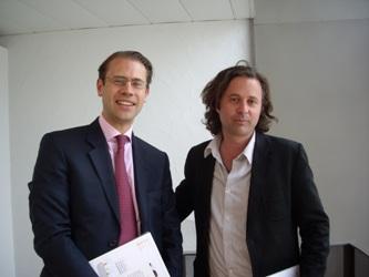 Fabrice Lacombe, président de Michael Page France et Charles Pépin, philosophe