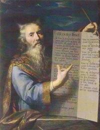 Moïse, huile sur toile de Philippe de Champaigne (1602-1674). Amiens, musée de Picardie.