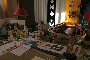 Atelier de Guy de Rougemont, de l'Académie des beaux-arts