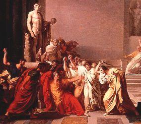 Mort de César (Vincenzo Cammucini, 1793, détail)