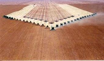 Récolte de soja en Amazonie