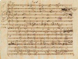 Partition autographe de Schubert