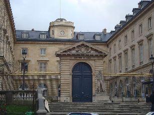 L'Entrée du Collège de France, à Paris