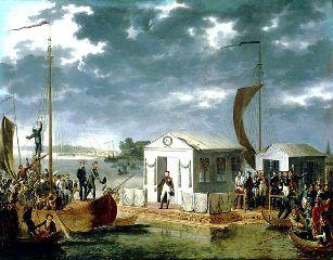 Le Traité de Tilsit (Adolphe Roehn, 1799-1864)