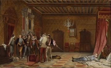 L'Assassinat du duc de Guise. Paul Delaroche et atelier