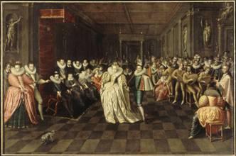 Bal des noces de Joyeuse. Attribué à Hieronymus Francken