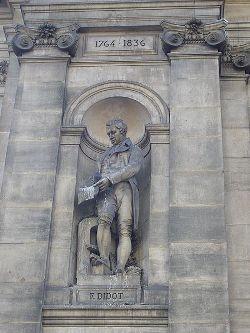 Statue de Firmin Didot à l'Hôtel de Ville de Paris